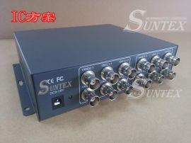 品  架式四进八出视频分配器信号放大器监控1分2