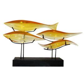 壁虎艺术BH-M00020透明鱼摆件700×200×390mm