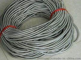 福莱通DN20蛇皮管和配套接头 穿线金属软管