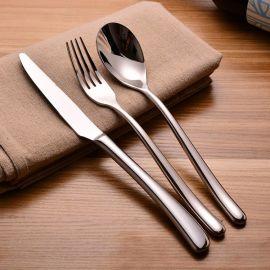 高檔西餐食具月光系列不鏽鋼刀叉勺套裝 牛排刀叉勺 西餐刀叉勺子