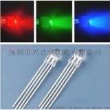 直插式LED燈珠 f5全彩燈珠 5MMRGB