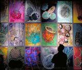 玻璃油画设计线条美的艺术