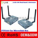 廠家現貨供應PTV550安卓無線同屏盒子雙頻雙天線2.4G+5GMiracast Airplay IOS9
