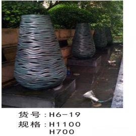 八一八|玻璃钢花盆 镂空光面烤漆花钵装饰雕塑定制