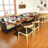 定做咖啡厅沙发桌椅组合 奶茶店沙发甜品店西餐厅火锅店卡座沙发