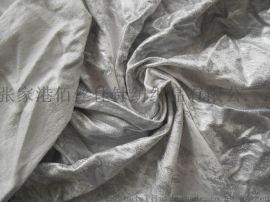 烫银人棉氨纶毛圈布 烫金面料