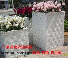 佛山供应防腐木花箱花池陶瓷花箱玻璃钢花箱