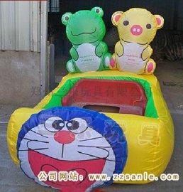 廣場雙人氣模車  甘肅金昌市雙人充氣電瓶車價格