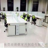 板式办公家具时尚屏风办公桌简约电脑桌定制港歌批发