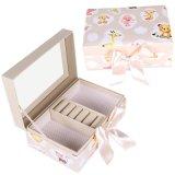 韩版可爱公主翻盖首饰桌面收纳盒带镜子饰品包装盒厂家定制