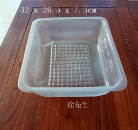 4kg装PP透明耐冻豆腐盒 山楂糕塑料保鲜盒
