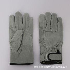 牛皮二层皮手套全掌建筑作业手套 焊工用电焊手套