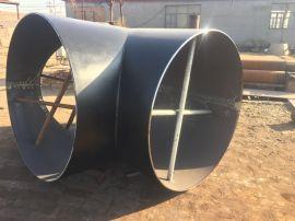 304白钢三通焊制Y型三通15CrMo合金厚壁三通