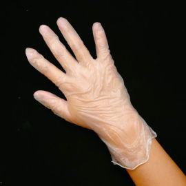 加厚黑色一次性PVC手套丁晴美容清洁PE手套