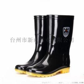 男士中幫防滑耐磨低價雨鞋