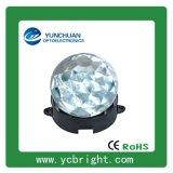 壓鑄鋁底座鑽石PC面罩圓形直徑85mm七彩光6WLED點光源