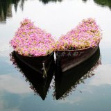 古舟木船GZ-HC-02欧式装饰花船 公园景区水上观赏木船 景观装饰