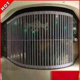 廠家定製 透明水晶摺疊門 橫向側推弧形水晶捲簾門