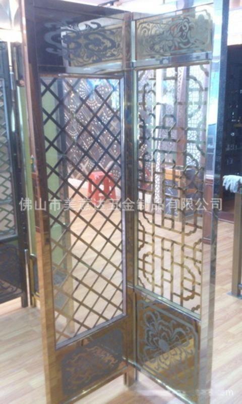 夜场黑钛不锈钢异形屏风  KTV玫瑰金屏风生产  不锈钢玄关