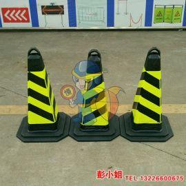 安全雪糕桶 道路施工锥 公路隔离 H750橡胶路锥 停车场专业方锥