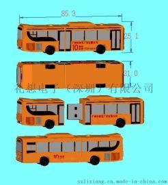 巴士客车U盘,汽车模型pvc u盘,巴士客车U盘