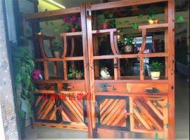 老船木博古架 展示架 古典隔断古董架 多宝阁茶叶柜