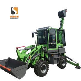 轮式挖掘装载机 一个驾驶室操作