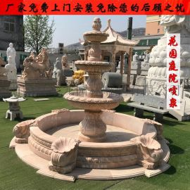 园林户外景观小区流水喷水雕塑大理石石雕喷泉欧式水景