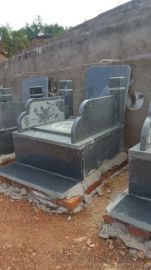 墓碑定制花崗巖G654中國黑家族墓農村傳統土葬墓碑