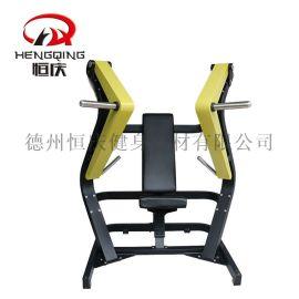 宽位推胸训练器胸部健身房运动力量健身器械大黄蜂
