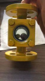 碳钢直通视镜对夹法兰白钢视镜耐腐蚀316水流指示器