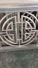 商业街扶手铝窗花-铝合金围拦扶手-护拦铝格栅