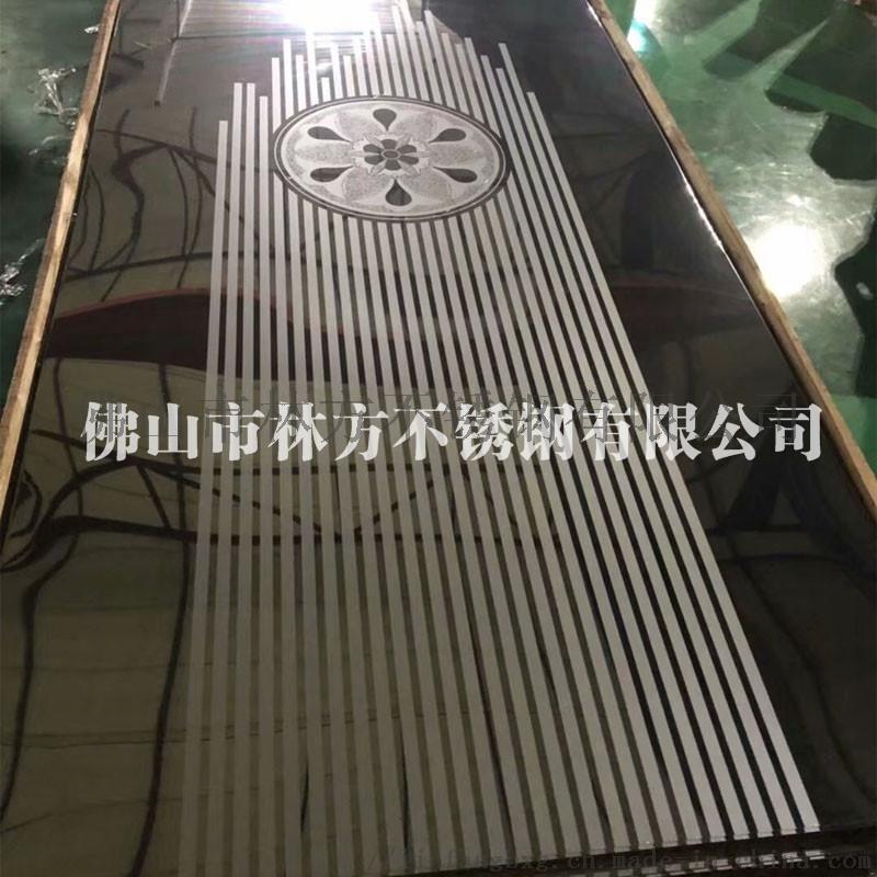 厂家直销钛金不锈钢电梯蚀刻板 镜面电梯轿厢板