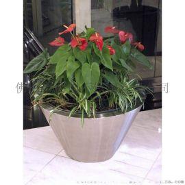 创意不锈钢花箱 商场装饰可移动花箱