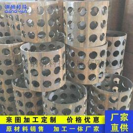 定制304不锈钢装饰孔管201装饰管激光管多用孔管