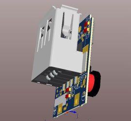 口红单节移动电源双保护板
