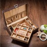 厂家定制皮革双层首饰盒,皮质手表珠宝手镯收纳盒