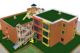 幼儿园户外设计木质组合滑梯拓展攀爬架无动力乐园设施