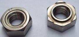 304不锈钢六角焊接螺母/螺帽 六角点焊丝/ M3 M4 M5 M6-M16