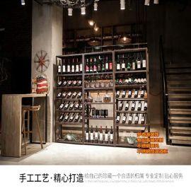 不鏽鋼酒櫃酒架 新中式時尚簡約黑鈦拉絲無指紋酒櫃