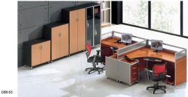 东莞办公家具屏风职员办公桌4人位 简约 现代 隔断卡座组合员工位