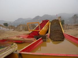 广东大型螺旋洗沙机螺旋洗石洗沙机双螺旋脱泥洗料机