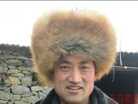 狗皮帽子东北大毛狗皮 皮毛一体风雪帽