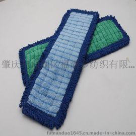 超细纤维植绒 魔术贴 口袋型 地拖 条拖 干湿两用拖 拖把布