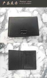 上海皮具厂家批发生产高档名片包 真皮大容量名片夹
