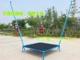 小型广场儿童游乐设备,方形钢架蹦极跳床,公园折叠蹦极床