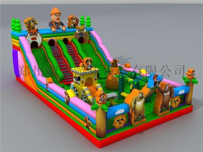 充气淘气堡儿童游艺设备 充气儿童乐园 充气滑梯城堡蹦蹦床