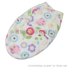 紫柔包巾襁褓睡袋 婴童用品 法莱绒单层婴儿抱被抱毯 新生儿抱毯