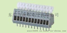 FS188免螺丝式2.54MM间距带按钮接线端子DG240