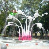 玻璃钢花蕾形状创意喷泉